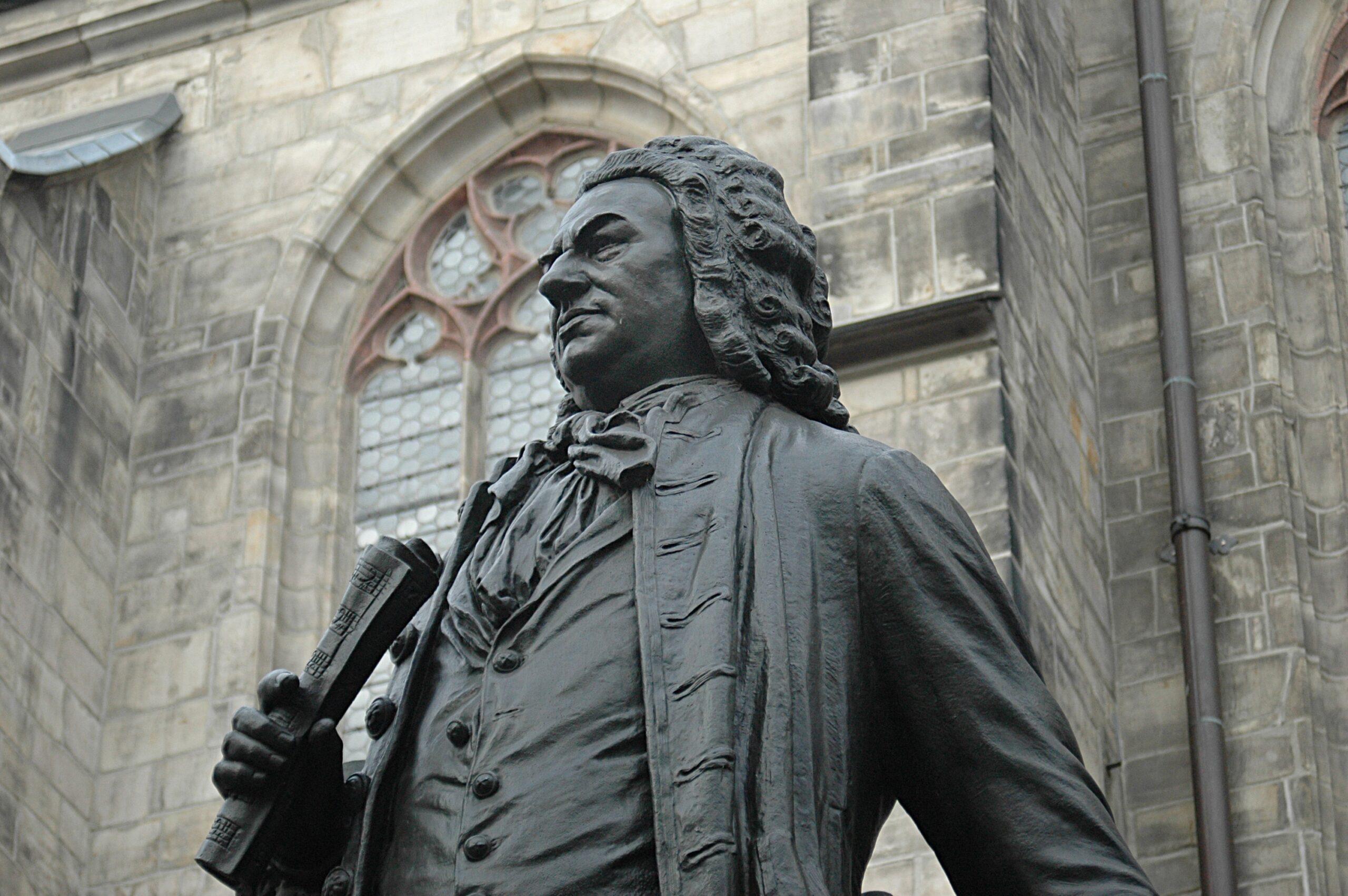 Памятник Баху в Лейпциге