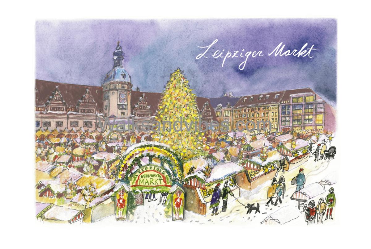 рыночная площадь Лейпциг